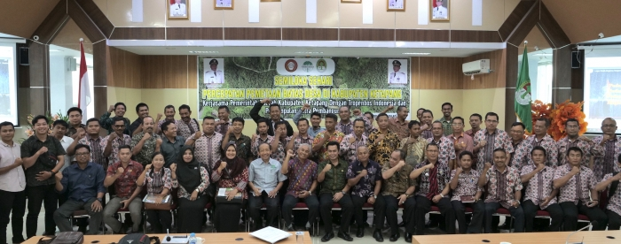Workshop on acceleration of participatory village boundary mapping in Ketapang District
